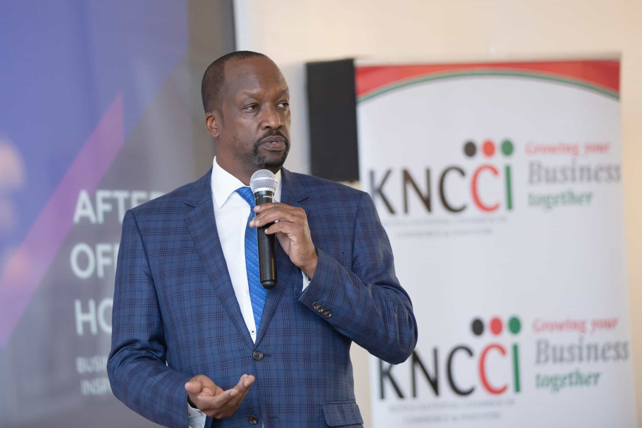 Mr. Kiprono Kittony, National Chairman KNCCI sharing his business lessons learnt form his business journey