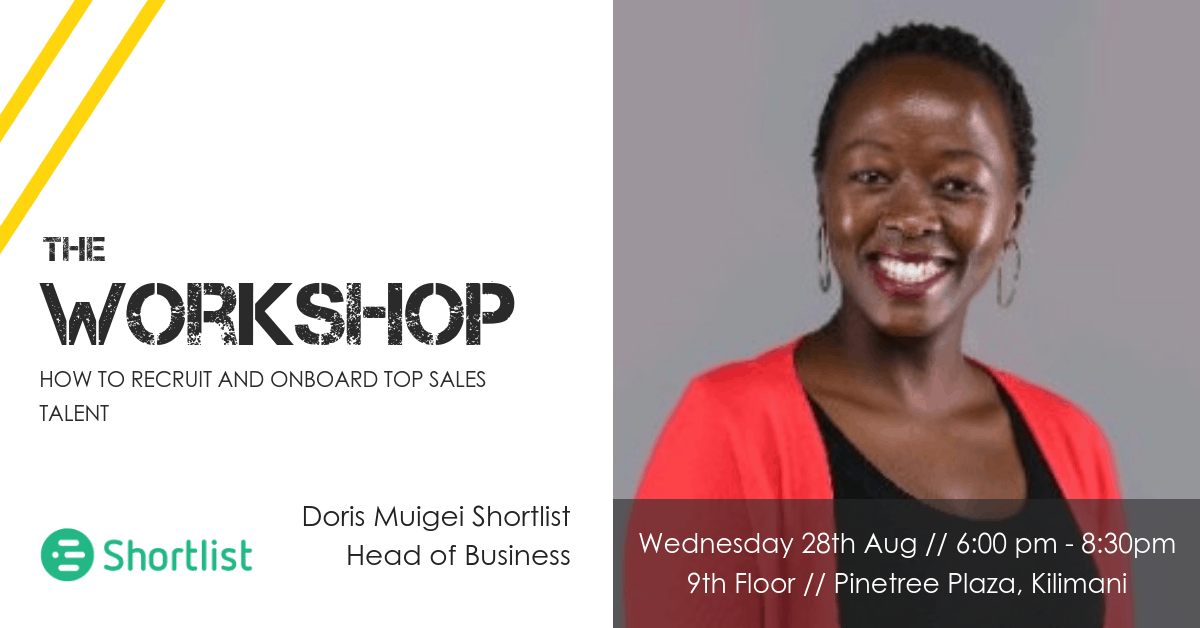+recruiting sales talent in Nairobi