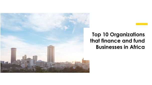 Finance and Funding organisations in Africa
