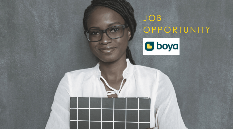 Boya #OpenPosition // Customer Support Executive