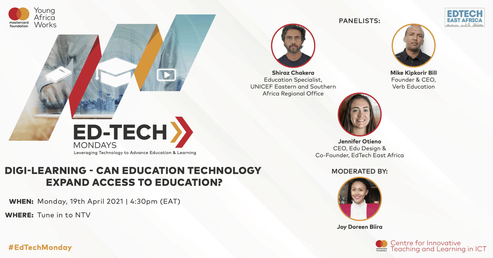 Mastercard Foundation Centre for Innovative Teaching and Learning in ICT launched Ed-Tech Mondays in 2019