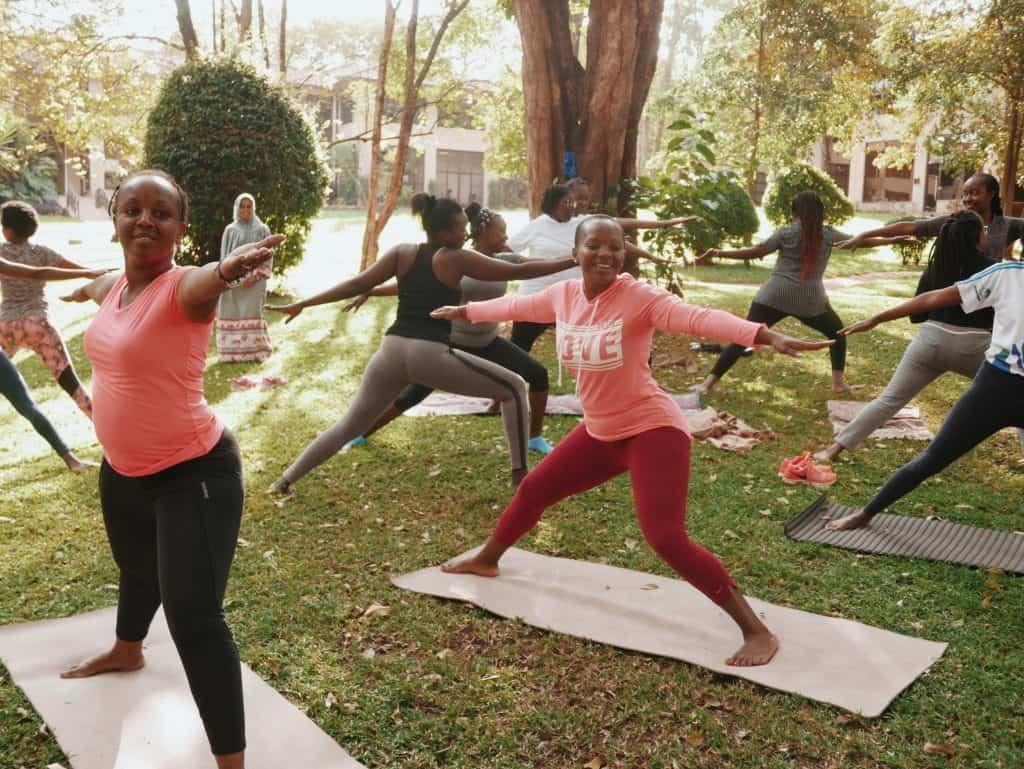 One of the Yoga Sessions held at Nairobi Garage Karen